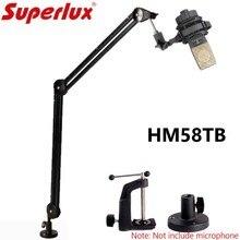 Микрофон Superlux HM58TB, Настольный кронштейн, универсальный консольный амортизатор, Настольный кронштейн, удлиненная консольная подвеска, подставка для микрофона