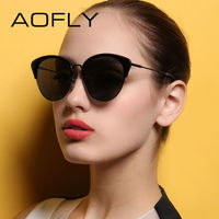 AOFLY Luxury Polarized Sunglasses Vintage Fashion Cat Eyes Sun Glasses For Women Brand Designer Gafas De