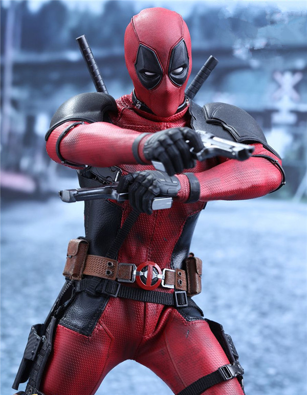 Hot Toys Compatible Marvel X men Deadpools 30cm BJD Joints Moveable Action Figure Toys for Gift with Real Cloth