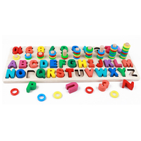 Kids Digital letter Color Cognition Puzzle Baby Early Learning Building Blocks Montessori toys
