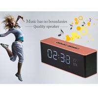 Portable Bluetooth Speaker LED Alarm Clock Subwoofer Wireless Speakers Soundbar Support Handsfree MIC TF FM For