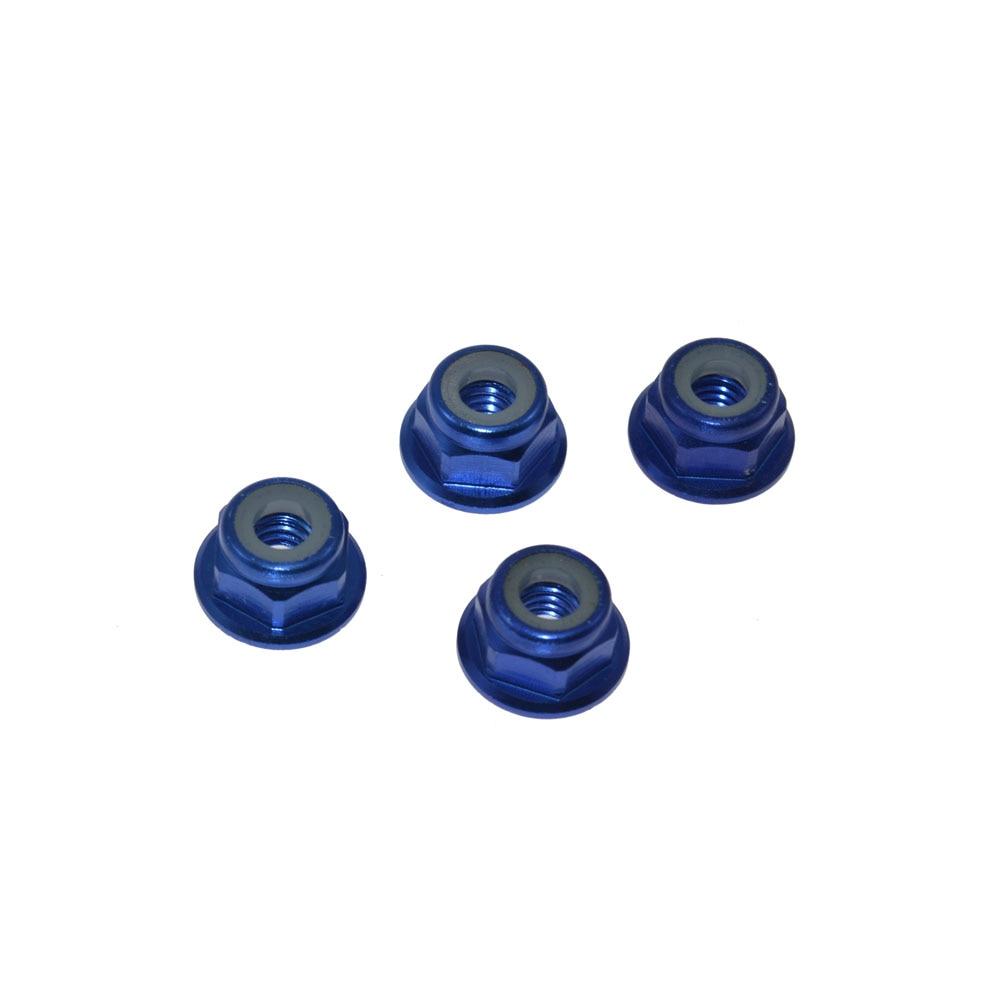 Upgrade Parts Aluminum Nut M4 102049 122049 for 1 10 RC Model Car Spare Parts 4PCS