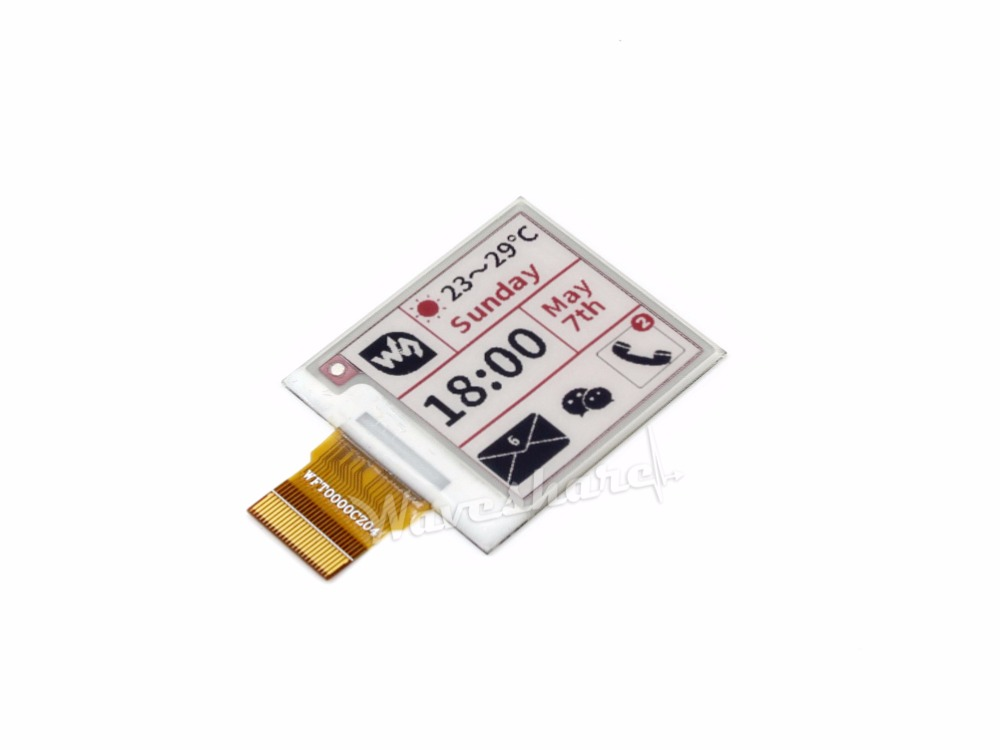Waveshare 1.54'' E Paper 200x200, 1.54inch E-Ink Raw Display Panel,without  PCB,three-color:Red, Black, White.SPI Interface