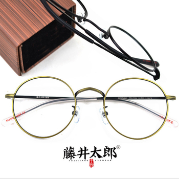 46d74a4095 TARO FUJII espectáculo marco gafas hombres mujeres receta Retro miopía  computadora claro óptico lente gafas de hombre