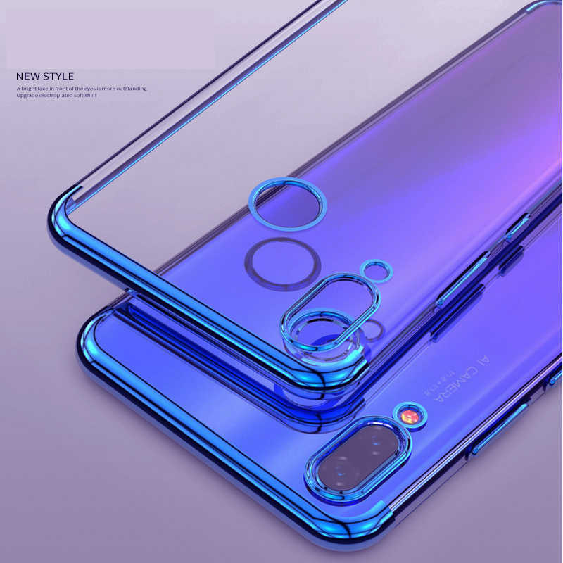 Elec-plating чехол s для huawei mate 30 P30 Pro P20 Lite Nova 3 3i 3e P Smart Plus Honor 8X Note 10 Чехол прозрачный, мягкий чехол