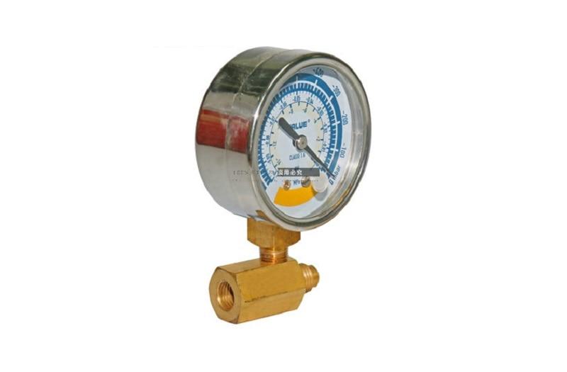 New Vacuum table negative pressure gauge with adapter FOR Air ultimate vacuum pump HVAC refrigeration repair