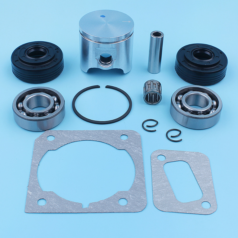 Image 3 - 40mm Piston Crank Ball Bearing Oil Seal Kit For Husqvarna 340 345 Jonsered 2141 2145 Chainsaw Ring Needle Cage Spare PartChainsaws   -
