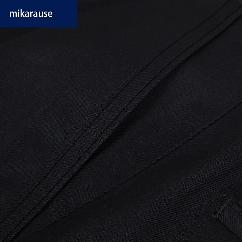 Mikarause boys pants black straight suit trousers kids pants teenage school student performance full length boy pants kids cloth 4
