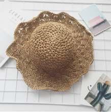 Быстрая доставка туи стиль guangjieshao с ручной вязаная шляпа соломенная шляпа женщина летнее солнце затенение бейсболка стиль пять