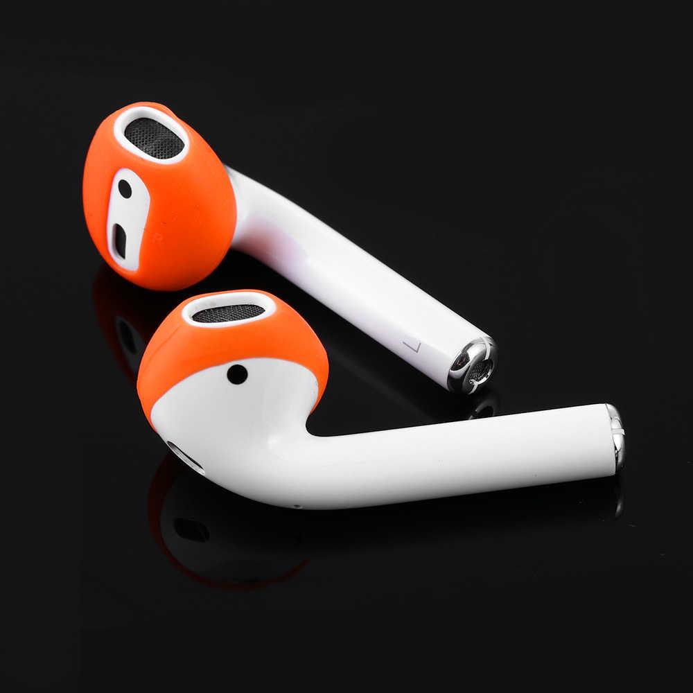 Nowa moda kolor 2 pary miękkie Ultra cienkie końcówki słuchawek antypoślizgowe douszne silikonowe słuchawki skrzynki pokrywa dla Apple słuchawki douszne AirPods i EarPods