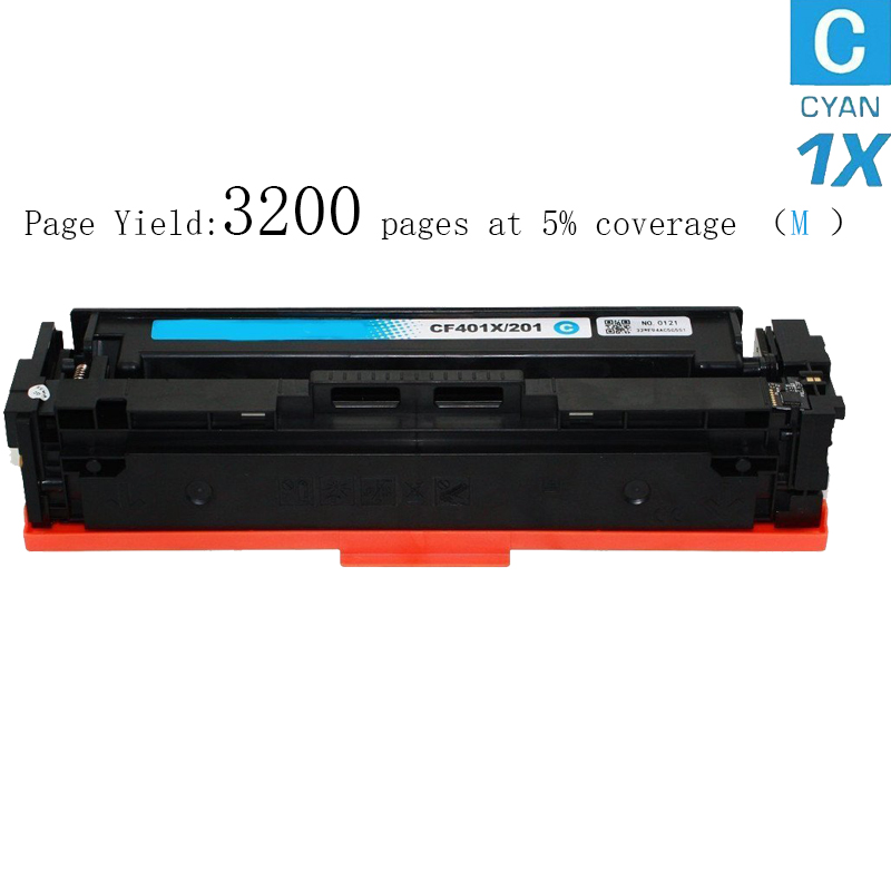 Hot 1pk Compatible for HP 201X - CF400X, CF401X, CF402X, CF403X High Yield Toner Cartridge for HP Color printers (Cyan, 1-Pack) new arrivals hisaint hot compatible toner cartridge replacement for hp cc532a 304a yellow 1 pack special counter free shipping