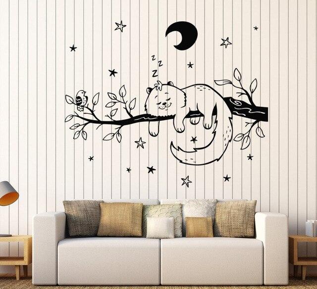 cat pada bintang pohon cabang wall sticker kamar tidur hewan vinyl