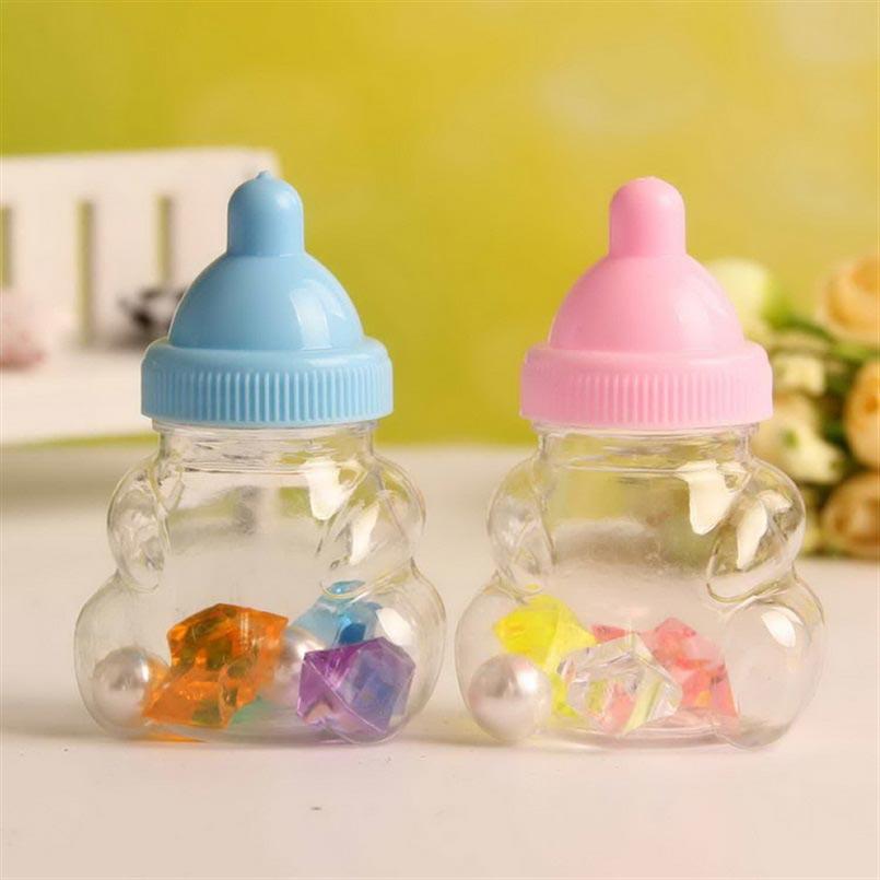 12ks Baby sprcha Candy Box láhev růžová dívka Blue Boy narozenin strana upřednostňuje vánoční dárek (tvar dítěte)  t