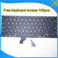 "Brand New For MacBook Pro Retina 13.3"" A1502 US keyboard+100pcs keyboard screws 2013-2015 Years"