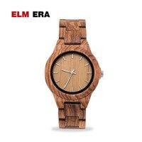 ELMERA модные деревянные женские часы спортивные relogio feminino женские часы ремешок деревянный плед