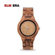 ELMERA Fashion Wooden Ladies Watch Hour Sports relogio feminino Women's Watches