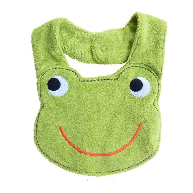 Baby Bib Baby Stuff Baby Kids Waterproof Cartoon Lunch Bibs Infant Animal Saliva Towel Bib Frog 2018