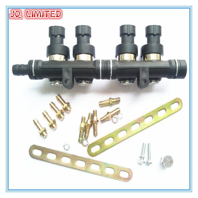 3 ohm 4 cylinder CNG szyna wtryskiwacza LPG super cichy szybki wtryskiwacz Common Rail wtryskiwacz gazu i akcesoria