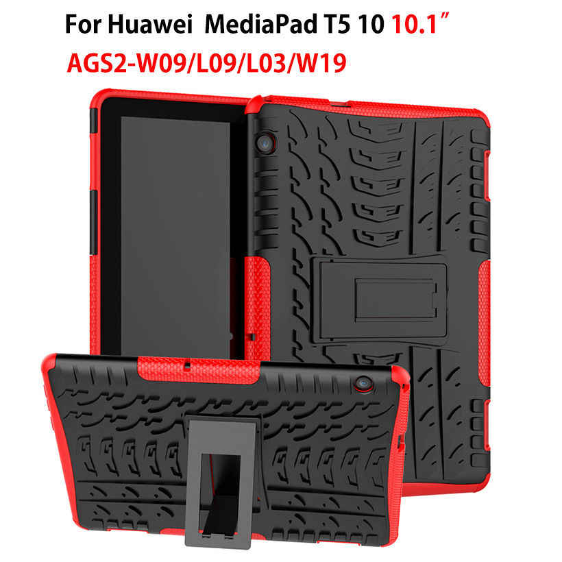 "Case For Huawei MediaPad T5 10 AGS2-W09/L09/L03/W19 10.1"" Cover Heavy Duty 2 in 1 Hybrid Rugged Durable Funda Tablet Shell"