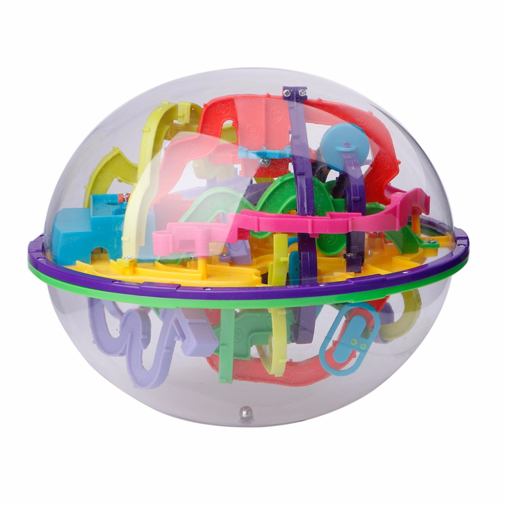 299 Barriers 3D Magic Intellect Ball Balance Maze Game Puzzle Globe Toy Kid Gift 3d magic coin maze ball intellect ball saving pot money box children educational toy orbit intelligence christmas new year gift