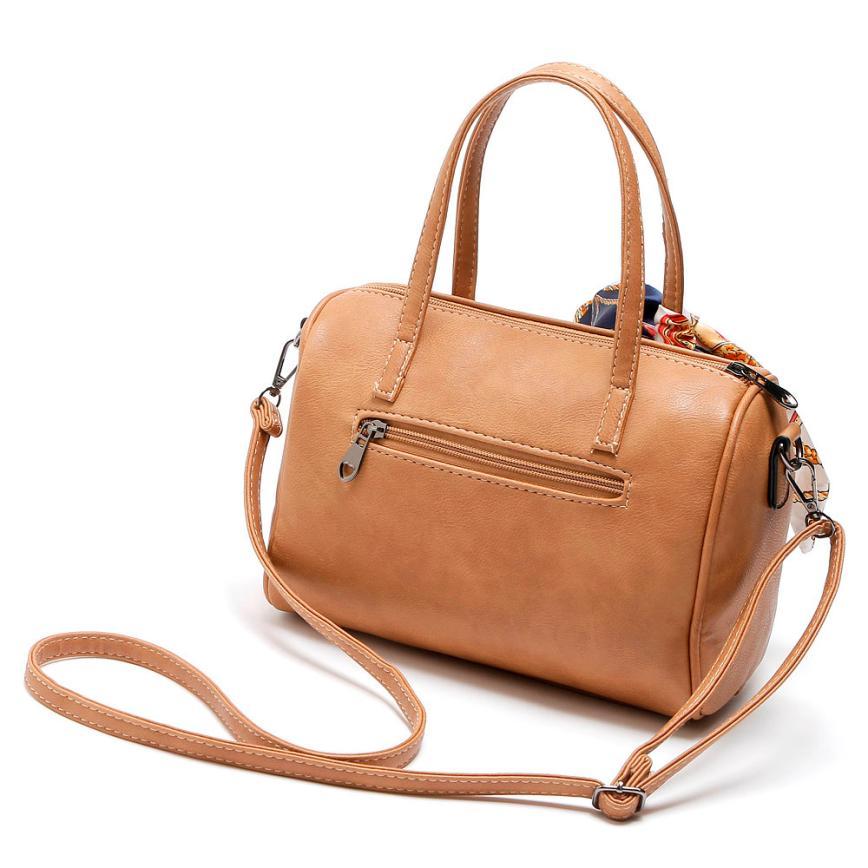 Модные Для женщин ручной Искусственная кожа диагональ сумка Для женщин однотонные молния кожаная сумка Глава Сумка # f