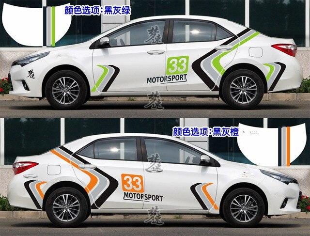 sport style 33 number car race body sticker for toyota levin corolla rh aliexpress com Corolla Race Car Corolla Race Car