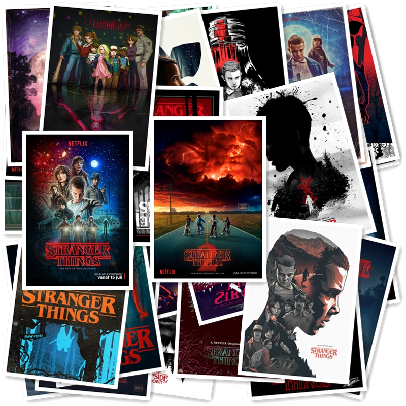 Stranger Things 20/pcs PVC Series Stickers Classic Creative Design Collection Gift High Quality Printing Waterproof Sunscreen