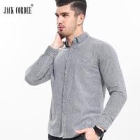 Jack cordee высокое качество рубашка Для мужчин Мягкий хлопок с длинным рукавом мужская одежда Рубашки для мальчиков 2017 Повседневное Slim Fit мужск...