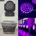 (Чехол для полета) ультрафиолетовый светодиодный светильник с движущейся головкой  для вечеринок  36  18  rgbwa  УФ-свет  для увеличения  для движе...