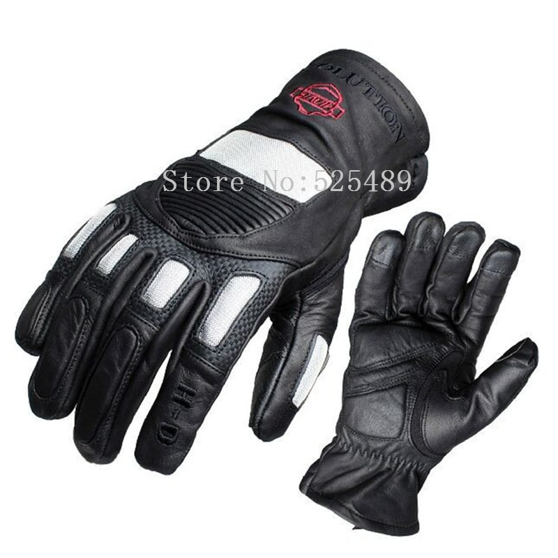 Brand Carbon Fiber Genuine Leather Motorcycle Gloves Outdoor Motocross Racing Protective Motorbike off road Gloves For