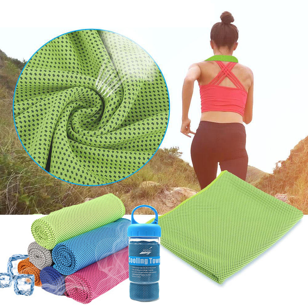 ICE INSTANT COOLING Towel for Sports Running Yoga Gym Outdoor Fitness 7 PACK