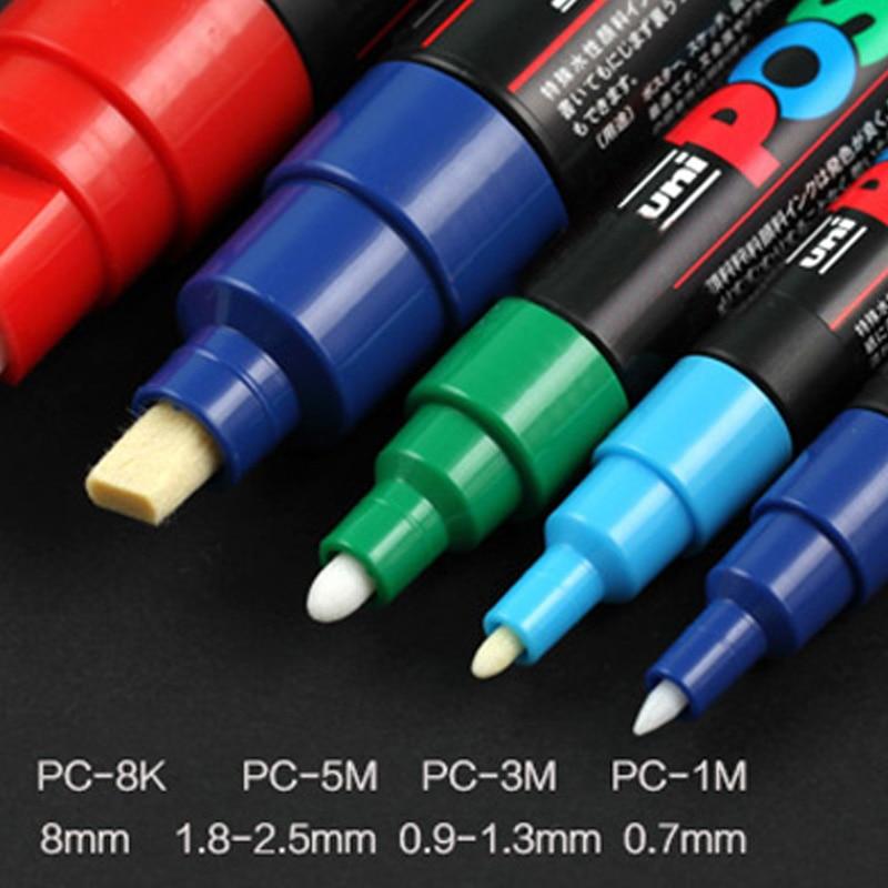 Image 2 - UNI POSCA набор маркеров POP видео Дисплейные слайды граффити ручка маркер цвет яркая разноцветная ручка PC 1M PC 3M PC 5M-in Фломастеры from Офисные и школьные принадлежности