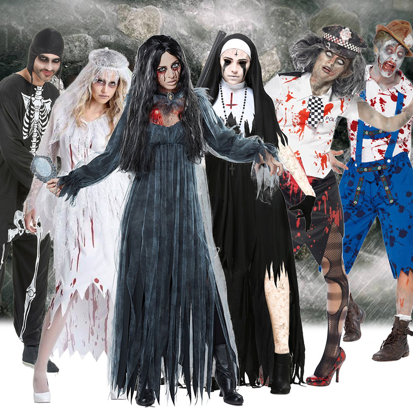 We may earn commission on some of the items you choo. Scary Halloween Costumes For Adult Men Zombie Nurse Nun Bloody Ghost Bride Middle Ages Women Fancy Dress Cosplay Costumes Buy At The Price Of 16 15 In Aliexpress Com Imall Com