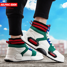 Aelfric Eden Men Casual Shoes Classic Skateboard Shoes Outdoor Color Block Fashion Sneakers Breathable High Top Footwear Ae032