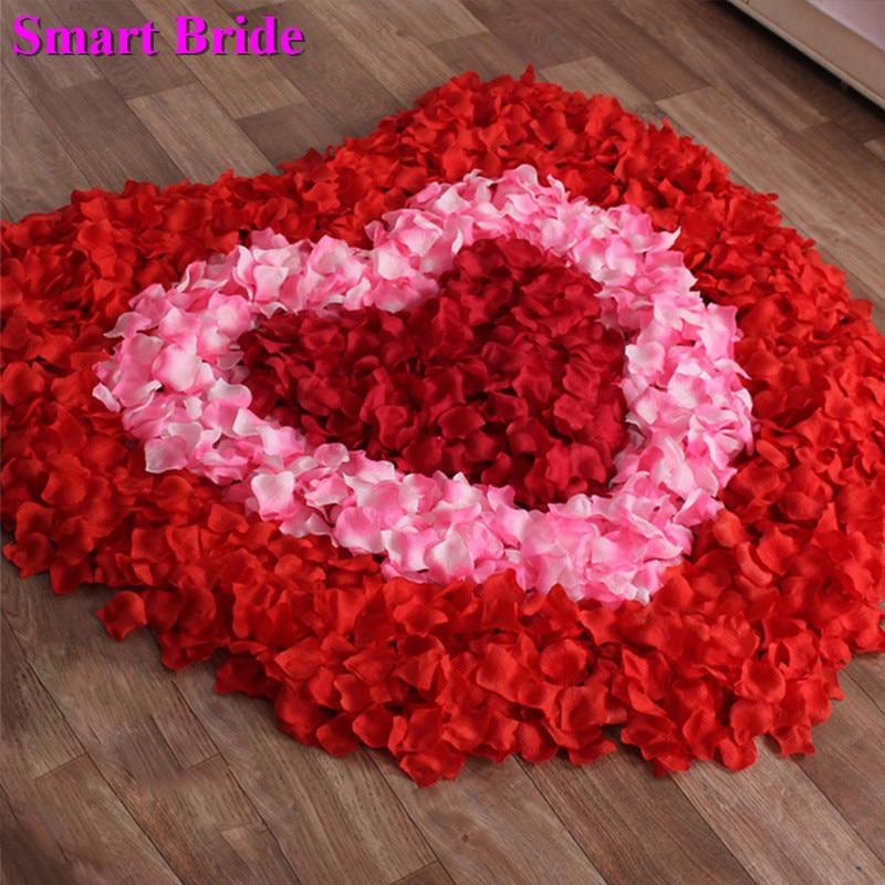 Red Pink Rose Petals Weddings Marriage Purple Petals De Fleurs Marriage Accessories De Mariage Flower Petals Fake Petal 2000 Pcs