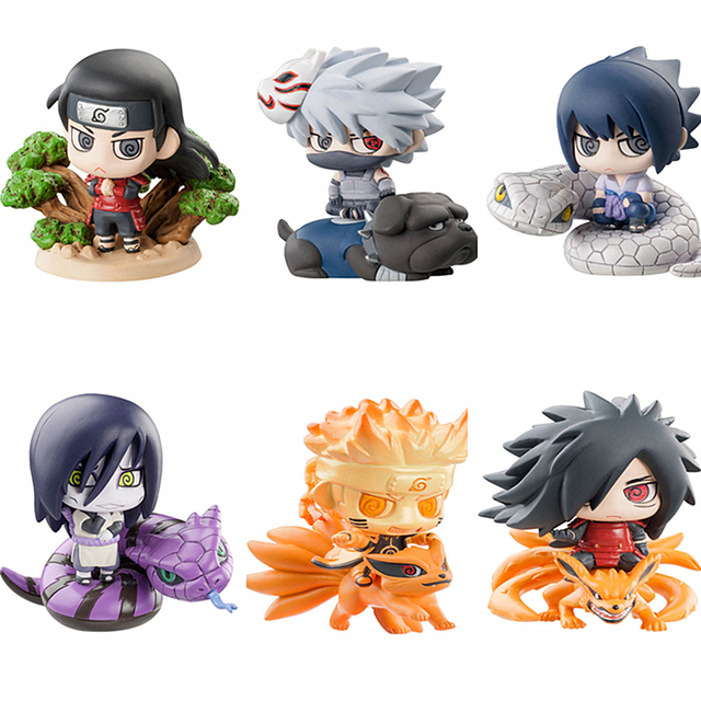 6 Pcs Set Naruto Collections Gifts Toys