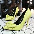 Корейская мода обувь женщины на высоких каблуках сладкий бабочка прекрасно с высоких каблуках женская обувь chaussure femme указал обувь
