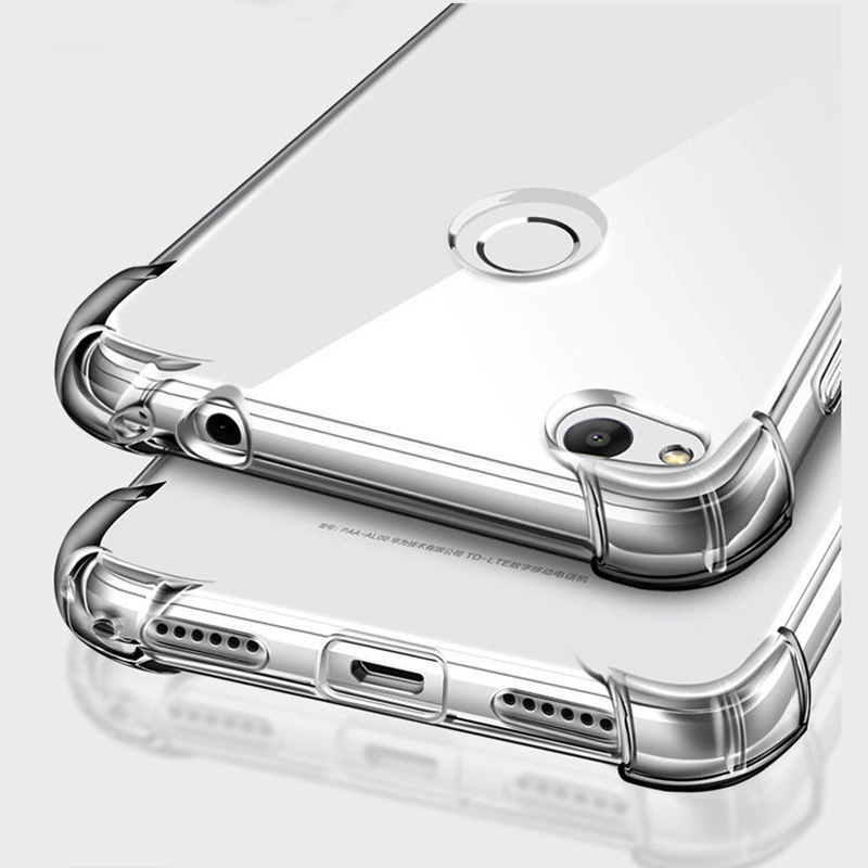 Shockproof Clear Soft Silicone Armor Case for Huawei P Smart Y9 Y6 Y7 2019 Mate 20 Pro 10 P30 P20 Lite honor 8X 8A 9 Lite Case in Half wrapped Cases from Cellphones Telecommunications