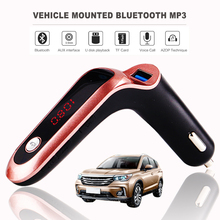 S7 Bluetooth FM Transmitter 4-in-1 Hands Free Wireless AUX Modulator Car Kit MP3 Audio Player SD USB LCD Car Charger Accessories
