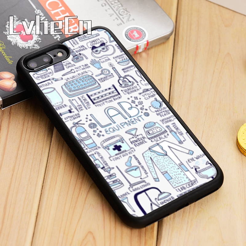 Arsmundi Coat Of Laboratory Doctor Stethoscope Phone Cases For Iphone 4s Se 6 5c 5s 6s 7 8 Plus X Case Soft Tpu Rubber Silicone Phone Bags & Cases