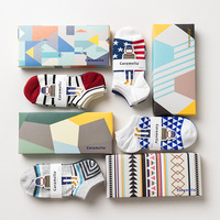 20 Colors Spring Summer Gift Box Men Socks Cotton Casual Hip Hop Socks Invisible Sock Male