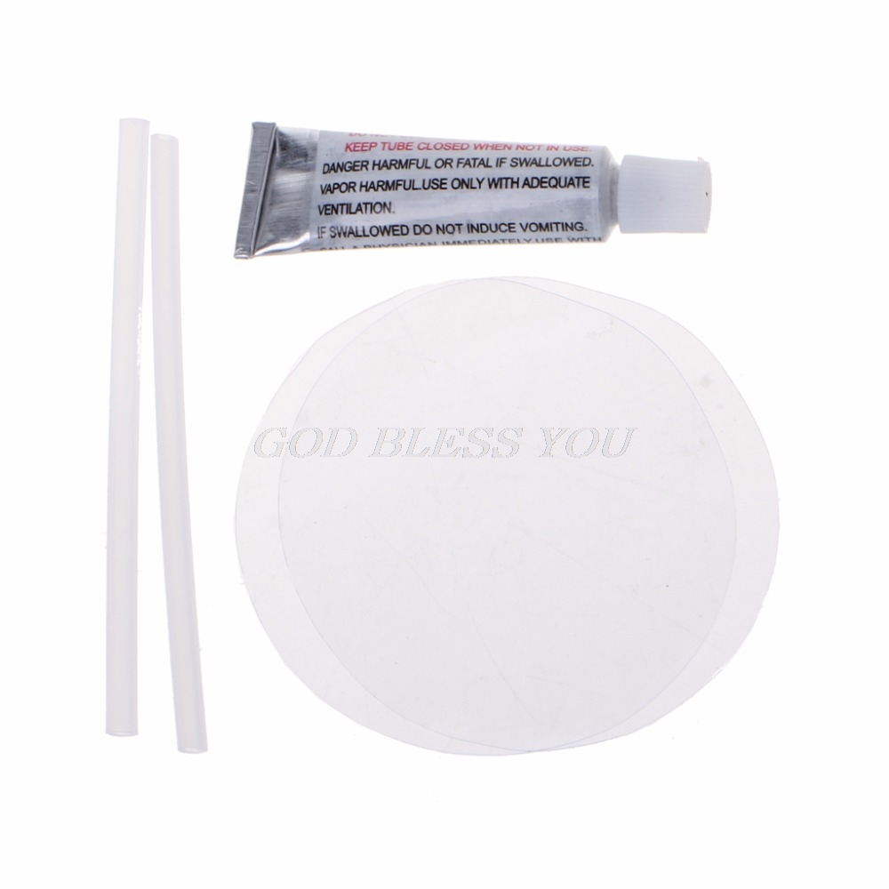 New Clear PVC Patch Vinyl Glue Repair Kit For Inflatables Waterbed Air Mattress Solvents