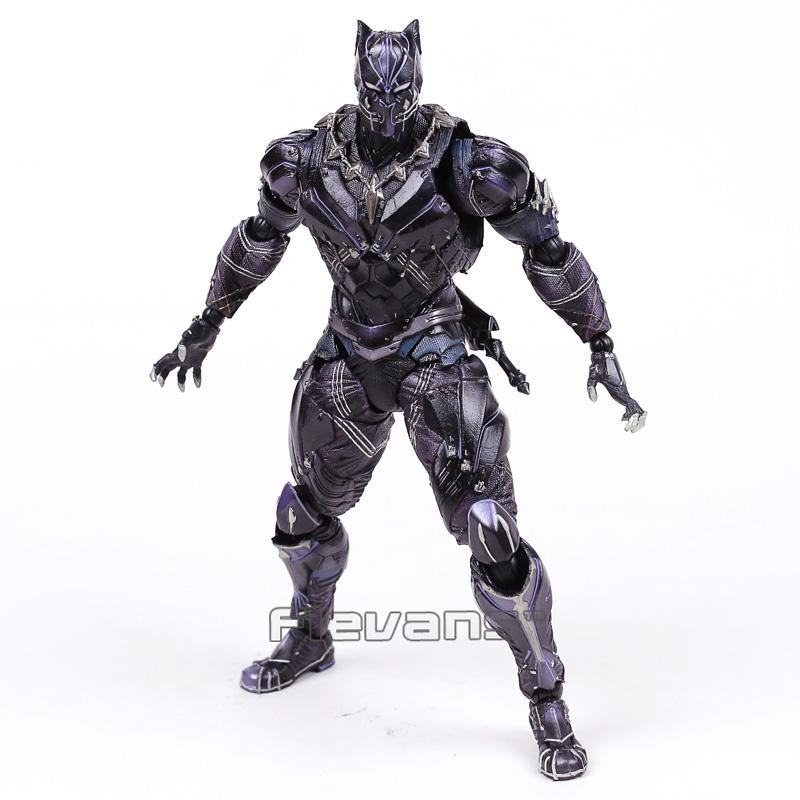 Paly Arts KAI Marvel Universe Black Panther PVC Action Figure Collectible Model Toy 26cm marvel avengers chess captain america pvc action figure collectible model toy 15cm hrfg462