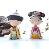 Дворец-музей Сувениры четвёртого принц и принцесса Пупс Куклы Цин ручной работы смолы куклы пара День святого Валентина подарок