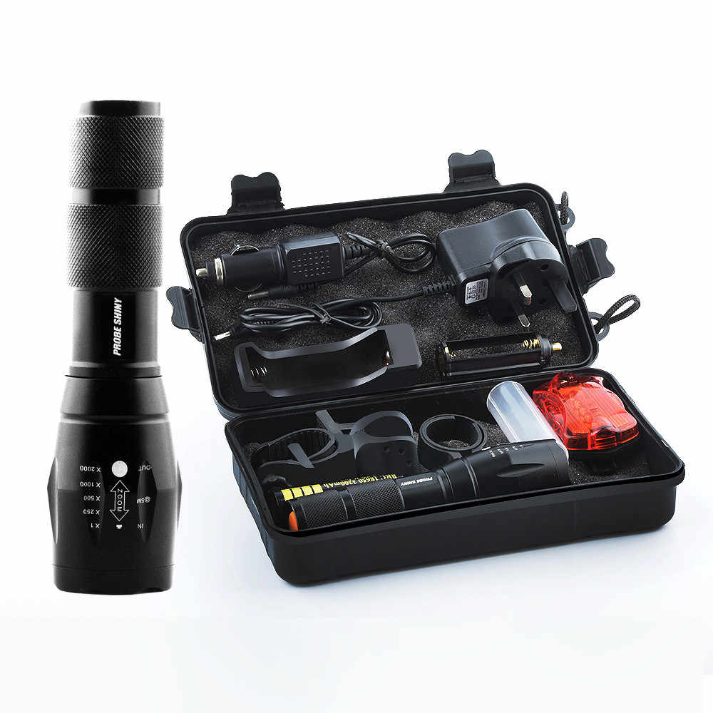 T6 LED Tactical Flashlight Set Military Zoomable Torch Outdoor Camping Powerful Zoomable Led Flashlight 18650/AAA Battery