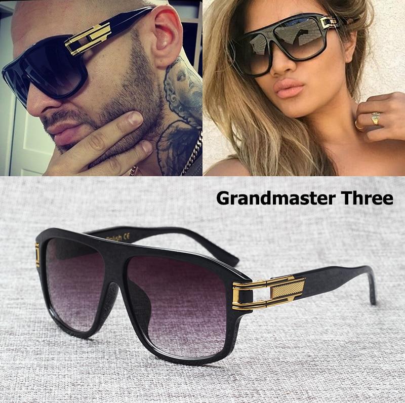 JackJad 2017 Modes Hip Hop Grandmaster Trīs Gradient Saulesbrilles Vīrieši Sievietes Zīmola Dizains Saulesbrilles Oculos De Sol Masculino