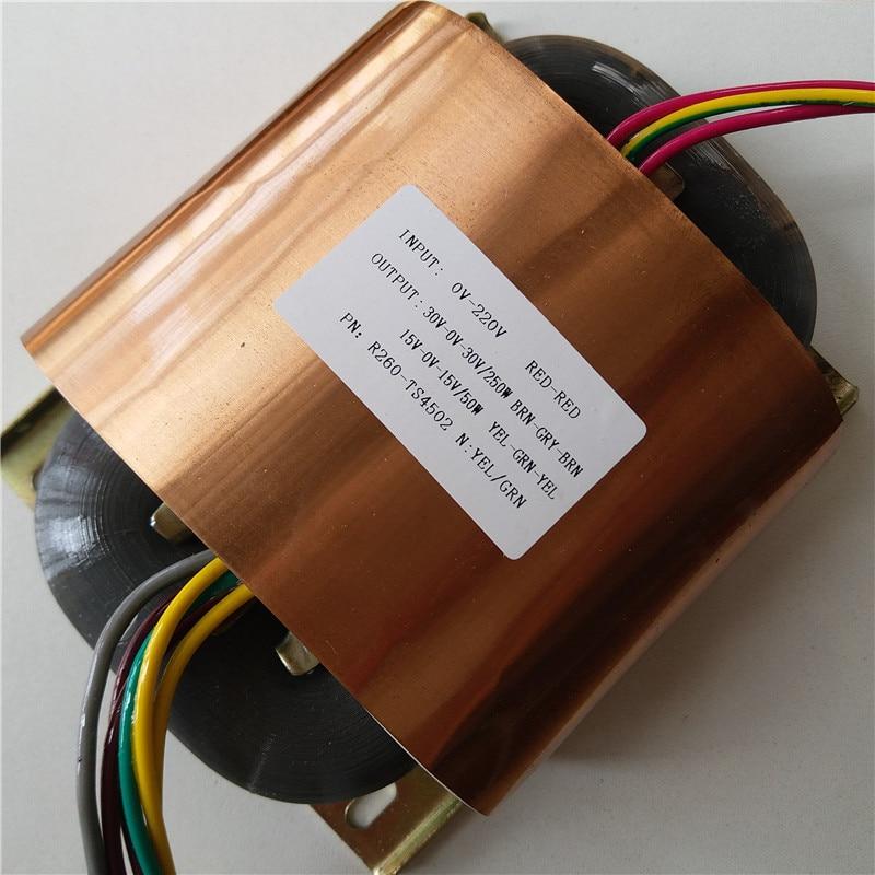 30V 0 30V 4 16A 15V 0 15V 1 66A R Core Transformer 300VA R260 custom