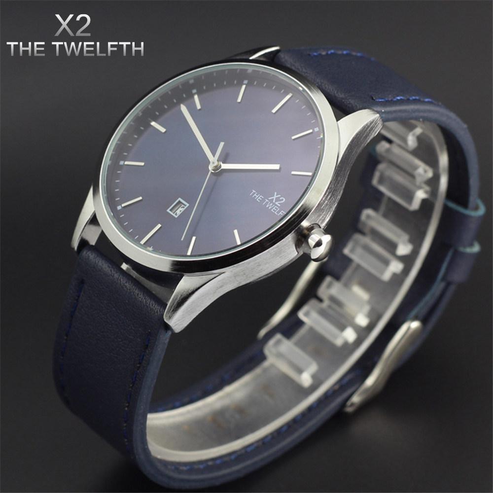 Prix pour Reloj hombre en cuir quartz montre hommes mode marque X2 LE DOUZIÈME montre de sport militaire homme horloge relogio masculino