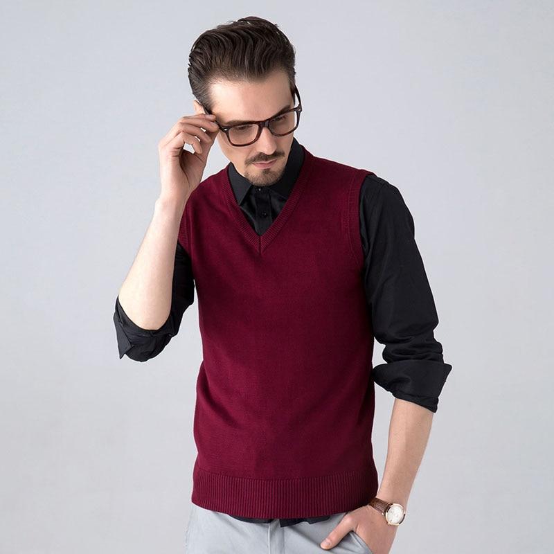 TIGER CASTLE Men Ärmlös Tröja Väst Klassisk Slim Business Man - Herrkläder - Foto 3