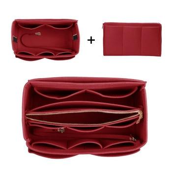 Purse Organizer Insert Makeup Handbag , Felt Bag organizer with zipper, Handbag & Tote Shaper, Fit Cosmetic Bags Never Full,Tote 5